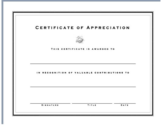 Get certificate appreciation template word excel project get certificate appreciation template word yelopaper Images