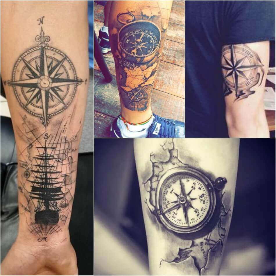 Compass Tattoo Designs Popular Ideas For Compass Tattoos With Meaning Compass Tattoo Compass Tattoo Design Tattoos For Guys