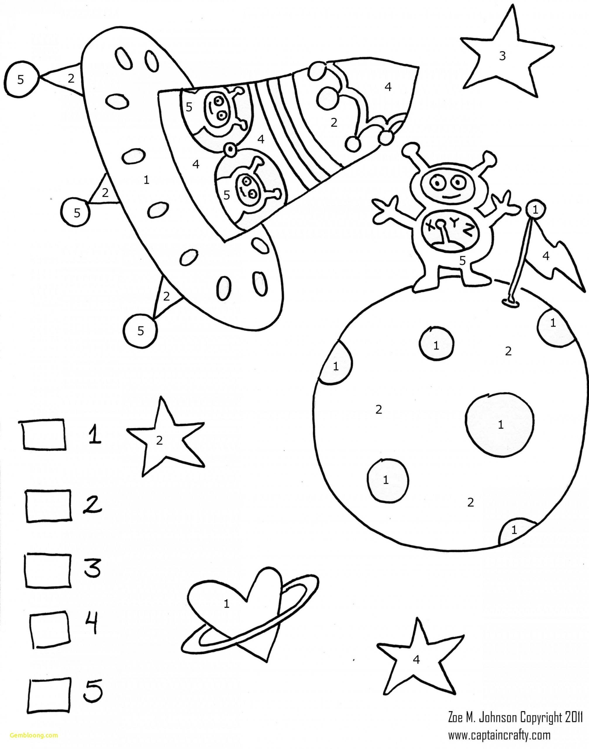 Cute Alien Coloring Pages Coloring Pages Color By Number