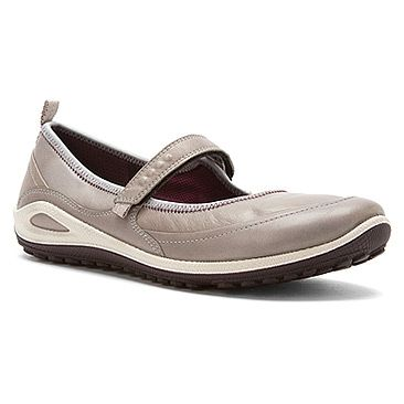 Ecco Flats Shoes Womens - Ecco Biom Grip Lite Maryjane Silver Grey Burgundy