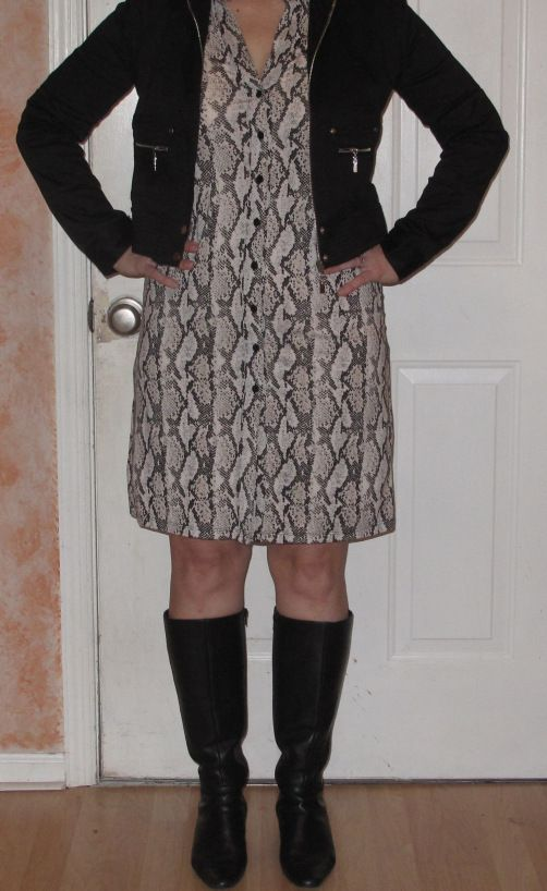 IMG_017  www.versatilestylebytracey.com  Friday's I post my finds for the week, including this thrifted dress and jacket from e-bay