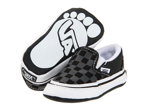 Vans Kids Classic Slip-On (Infant Toddler) (Checkerboard) Black Pewter -  Zappos.com Free Shipping BOTH Ways 24733a74c