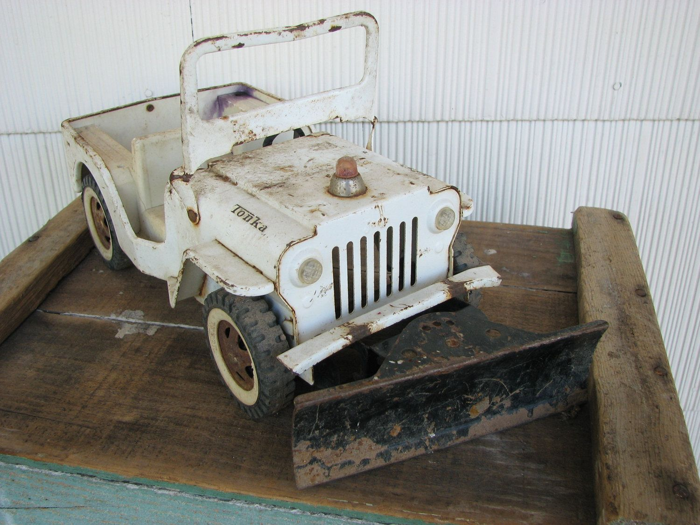 Vintage Snow Plow Jeep Tonka Truck Tonka Truck Snow Plow Tonka