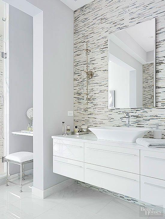 Dramatic Bathroom Architecture Modern White Bathroom Master Bathroom Design Floating Bathroom Vanities