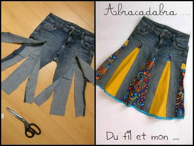 50da21c0b Pantalon falda | COSTURA | Ropa reciclada, Ropa y Reciclaje de ropa