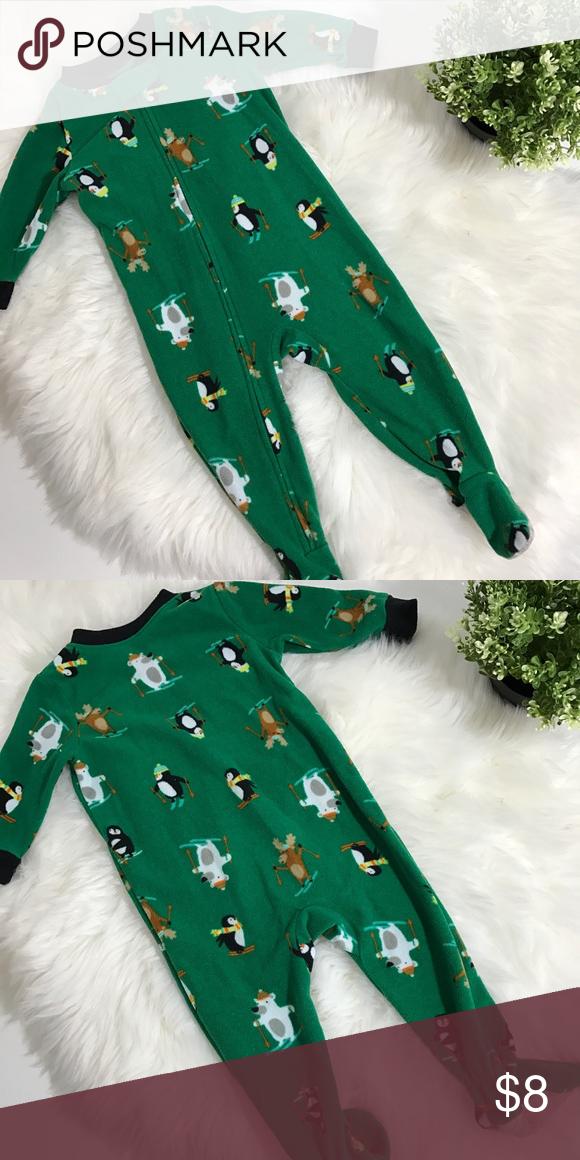 29455e44aaaa Polar Bear Penguin Moose Footed fleece zipper pajama. Great ...