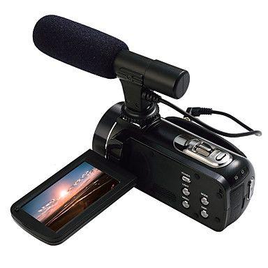ordro® HDV-Z20 con 1080p full hd micrófono externo& conexión wifi 8MP resolución de la imagen 24MP sensor de Sony – TaFull  E-Commerce