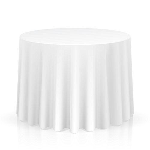 Lann S Linens 120 Round Premium Tablecloth For Wedding Banquet Restaurant White Table Cloth Table Cloth 120 Round Tablecloth
