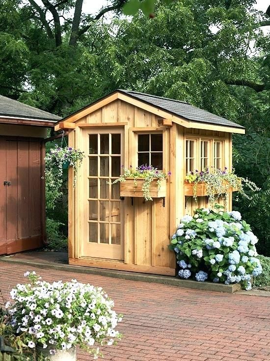 Delicieux Very Small Garden Sheds Gardening Shed Construct A Cute Garden Shed In A  Weekend With A Kit Prefab Wall Panels Go Up Quickly And Doors And Windows U2026