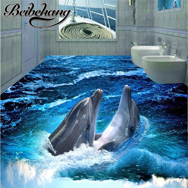 Two Dolphin Reef Tile Mural Master Bath Wall Sculpture Art Stone Wall Art Tile Art