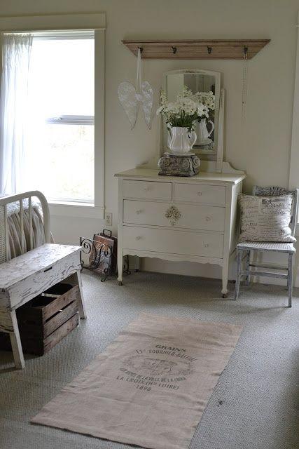 Vintage Cottage Decor | Cottage & Garden Style / Master Bedroom 2012~vintage dresser and ...