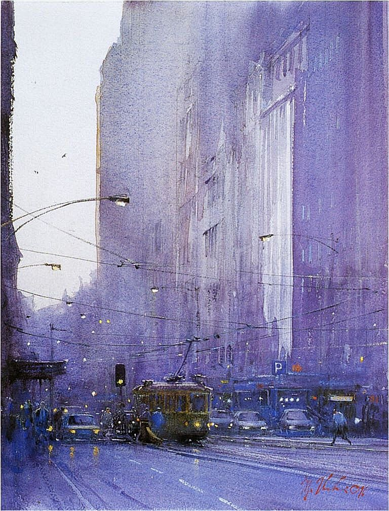 Joseph Zbukvic | Искусство городского пейзажа. Художники. Пейзажи