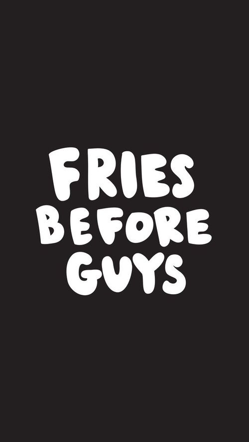 Imagen De Wallpaper Fries And Guys Iphone Quotes FunnyCute