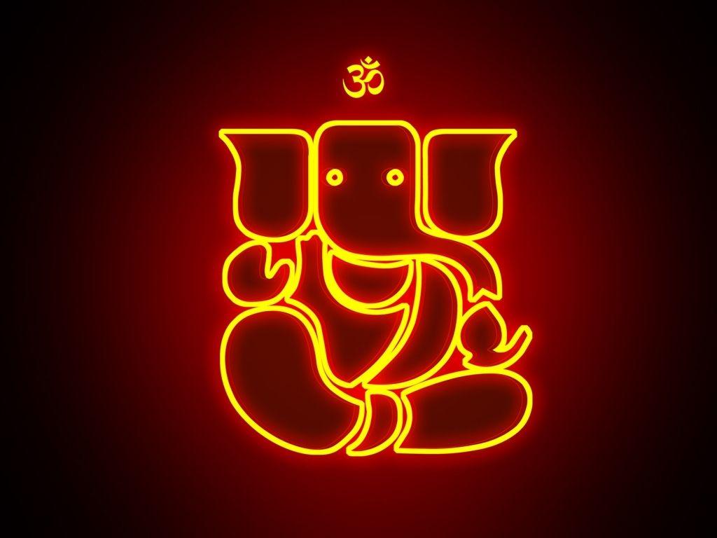 Hd wallpaper ganesh - 2015 Ganesha Greetings With Om Lights Hd Images Free