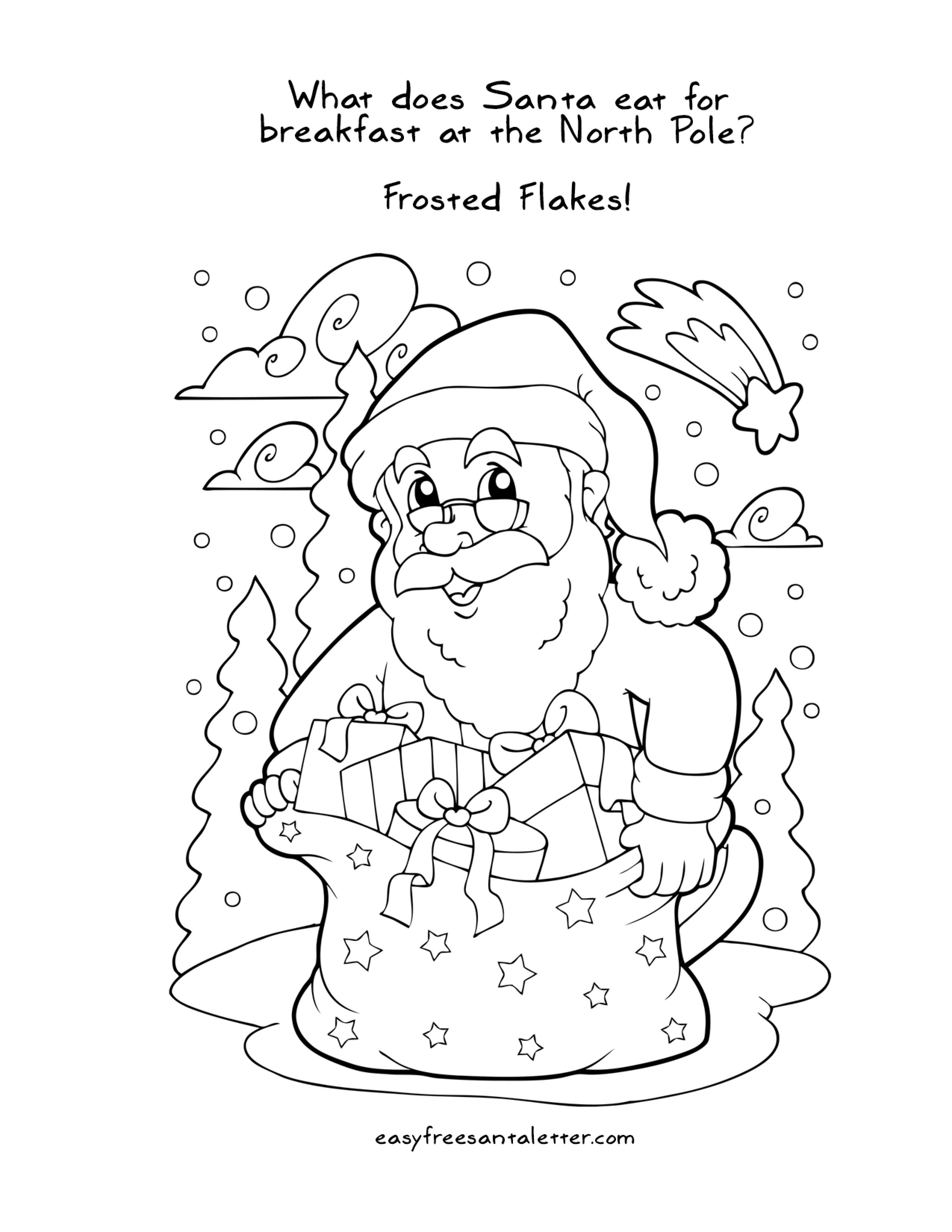 Easy Free Letter From Santa Magical Package Printable Christmas Coloring Pages Santa Coloring Pages Christmas Coloring Pages