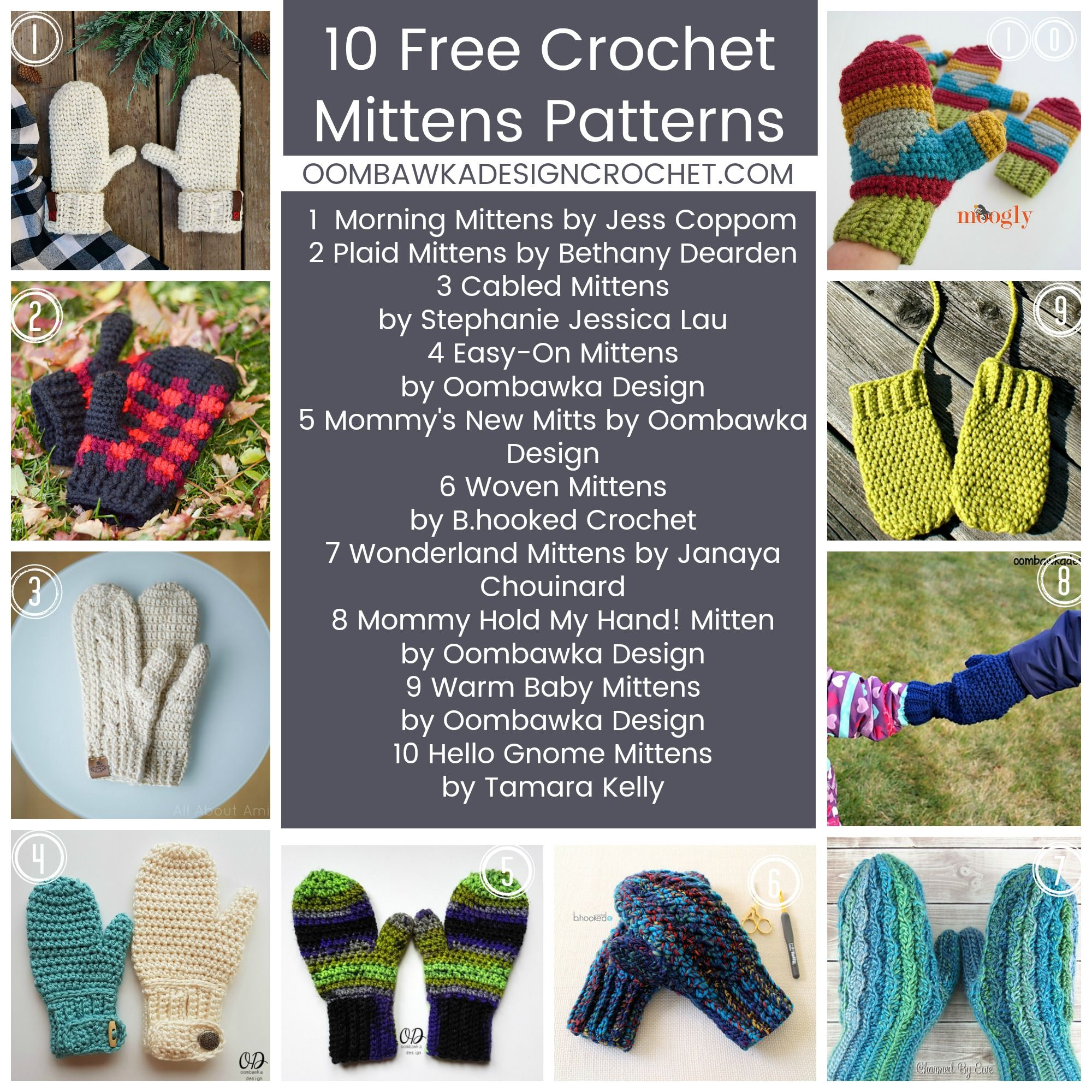 10 Free Mitten Patterns | Mittens pattern, Mittens and Crochet mittens