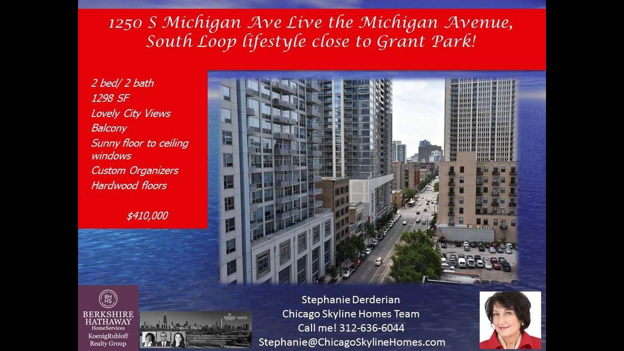 """http://ift.tt/2blpur5 2 bed  2 bath Loop Condo on Michigan Ave. - Call Stephanie:  312-636-6044. Sunny  south-facing 2 bed/2 bath with a full dining room area  spacious kitchen  open living room with balcony and fireplace. Kitchen is well designed with lots of light and window space  too. There is a """"pass through"""" to the dining room area that some use as a den or office. Cozy fireplace with marble surround and opens to the balcony. Master bedroom has a huge walk-in closet (can be an office…"""
