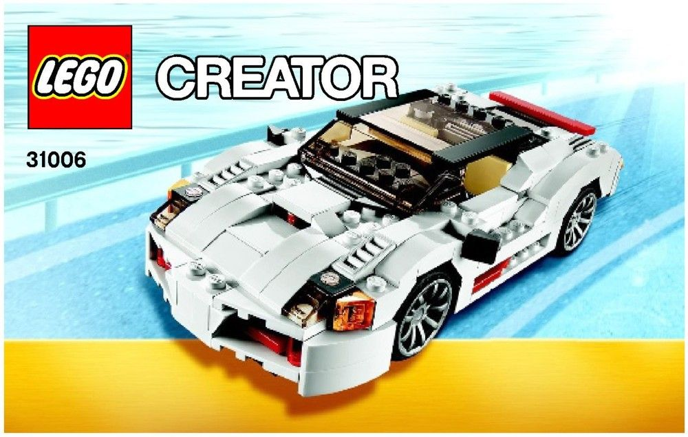 Lego Highway Speedster Instructions 31006 Creator Lego