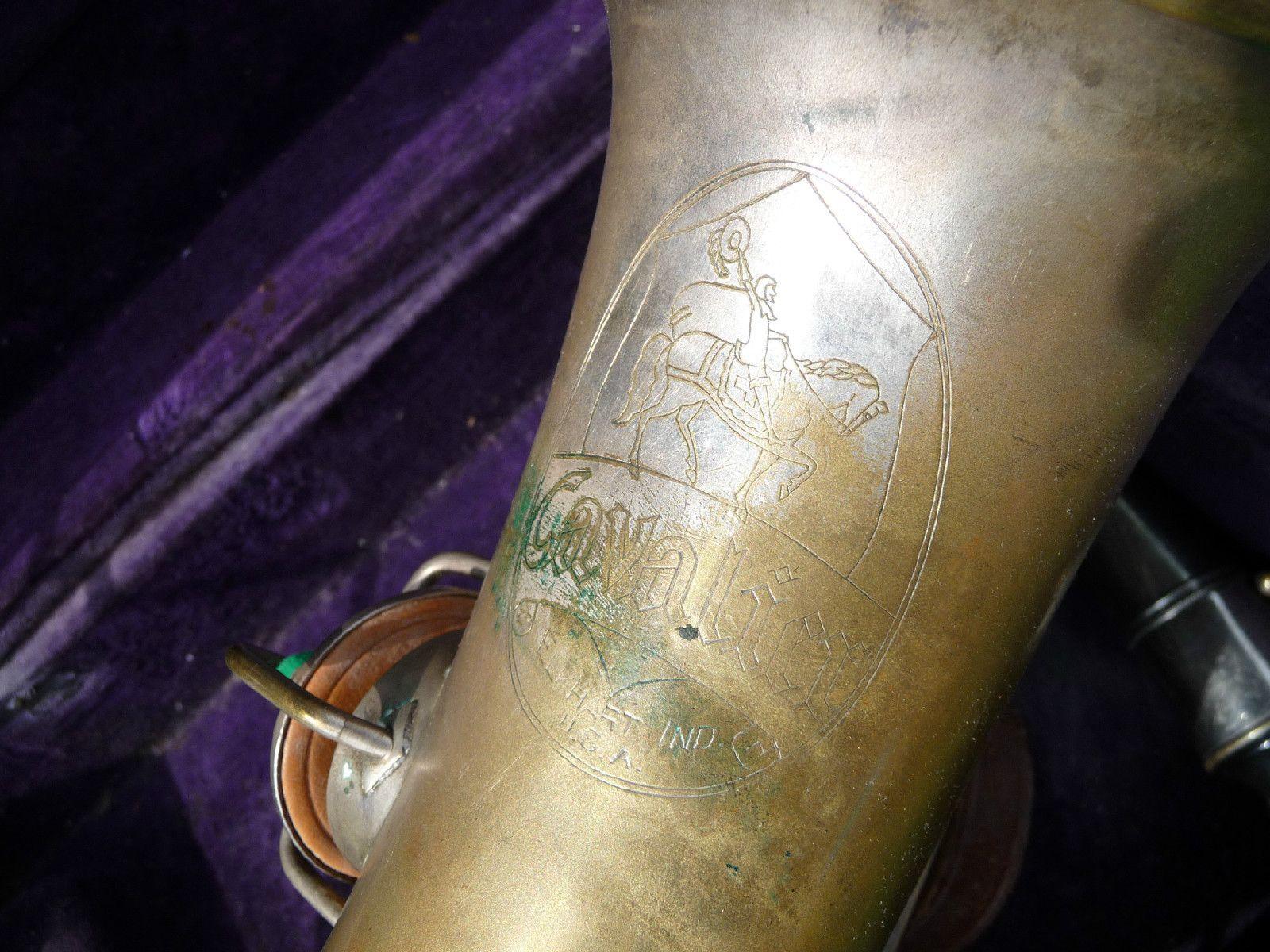 Vintage Cavalier Saxophone Elkhart Ind USA Pat Sept 14 1915