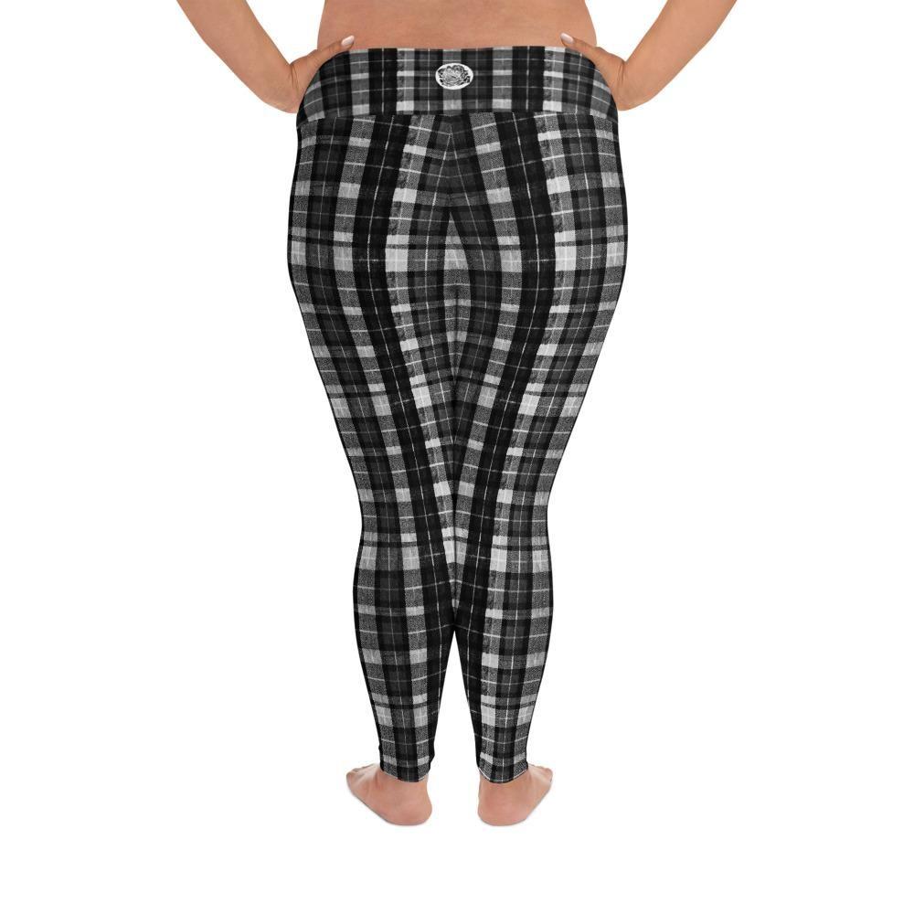 Christmas Plaid Womens Printed Yoga Pants High Waisted Workout Leggings