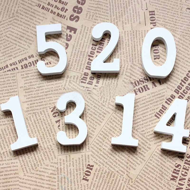 White Wood Wooden letters Alphabet Numbers For Wedding Birthday Home Decor