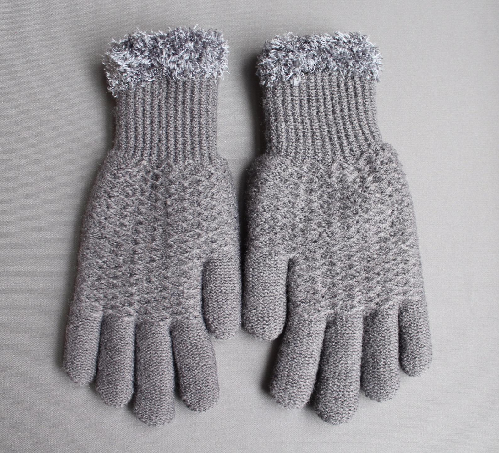 14.84$  Watch here - http://vivwm.justgood.pw/vig/item.php?t=k1n25sz18102 - Dk Grey Gray lined gloves faux fur knit stretch gloves winter super warm ladies 14.84$