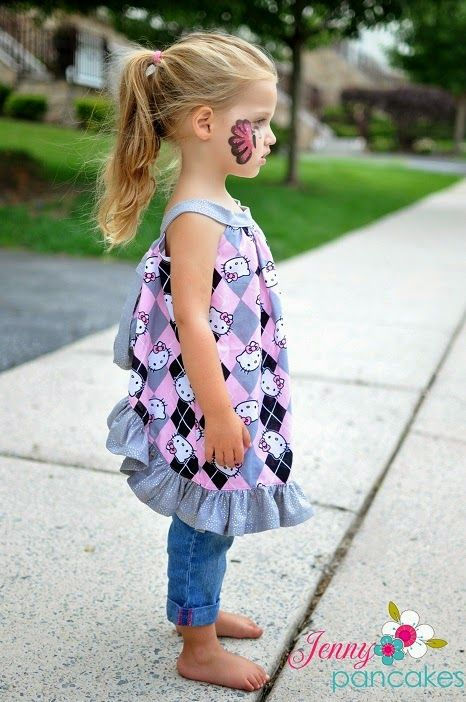 Sewing Patterns for Girls Dresses and Skirts: Pinafore Sewing Pattern, Newborn to 4 Years, Baby, Toddler Pattern