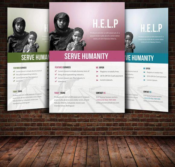 Charity Flyer Template by Leza on Creative Market | 配色 | Pinterest ...