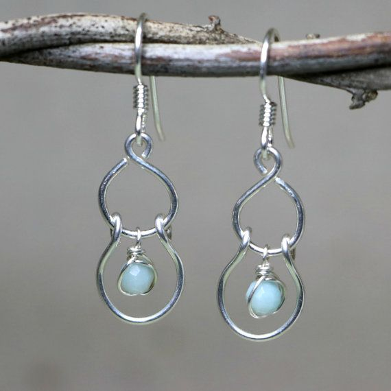 Sway Faceted Amazonite and Sterling Silver by CammieLaneJewelry