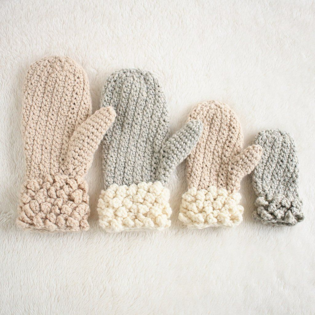 Crochet Pattern Winter Spun Mittens Crochet Mittens Pinterest