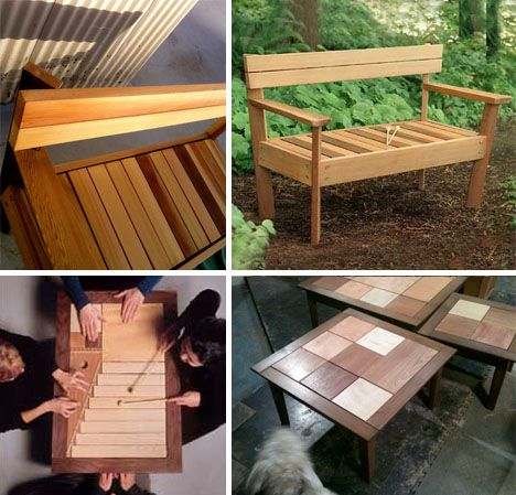 Acoustic Decor Modular Interactive Music Making Furniture Furniture Decor Wooden Bench Table