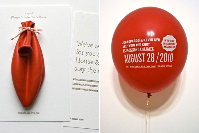 balloon invitations 25 creative invitations wedding pinterest