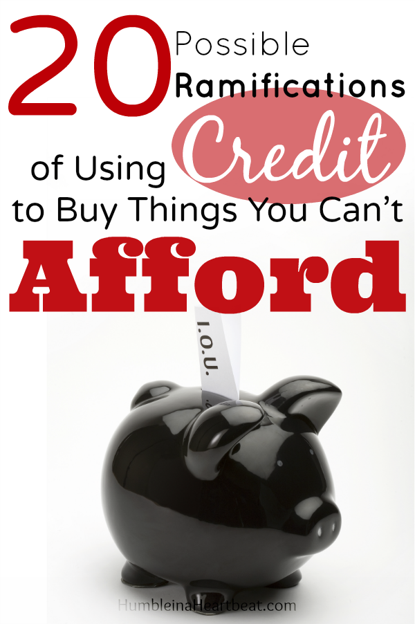 What happens when you start pulling out your credit card every time you buy something you want but cannot afford? It becomes something much worse than you might imagine.