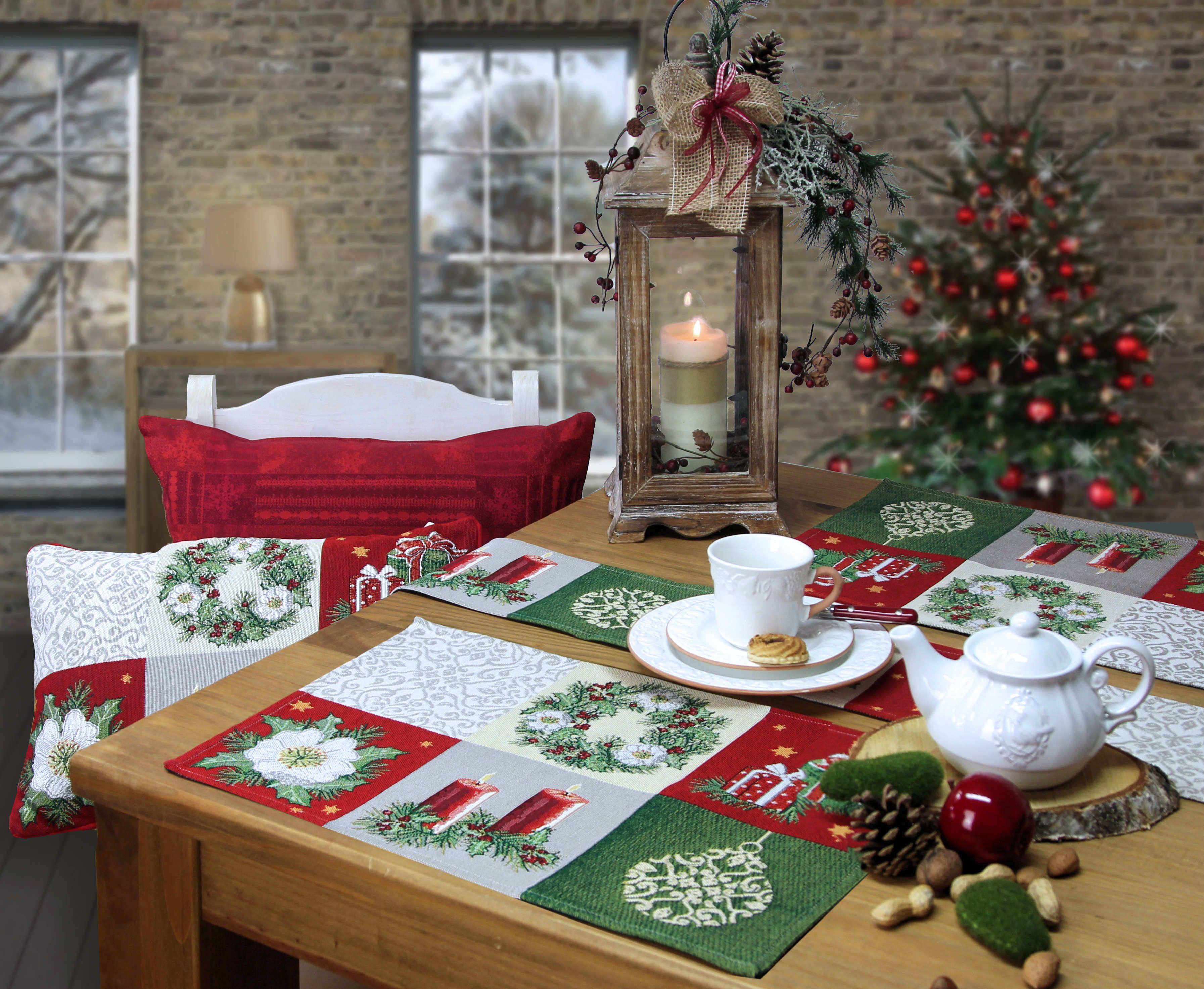christmas joy tischsets und kissen weihnachten online kaufen. Black Bedroom Furniture Sets. Home Design Ideas