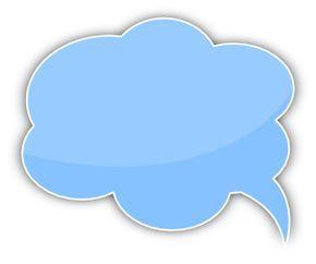 Speech Bubble Cloud Blue Left Text Balloon Bubbles Frame Border Design