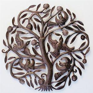 Merveilleux Wonderful Details About GARDEN TREE Wall Art Haitian Metal Sculpture Beyond  Borders Recycle Oil Drums