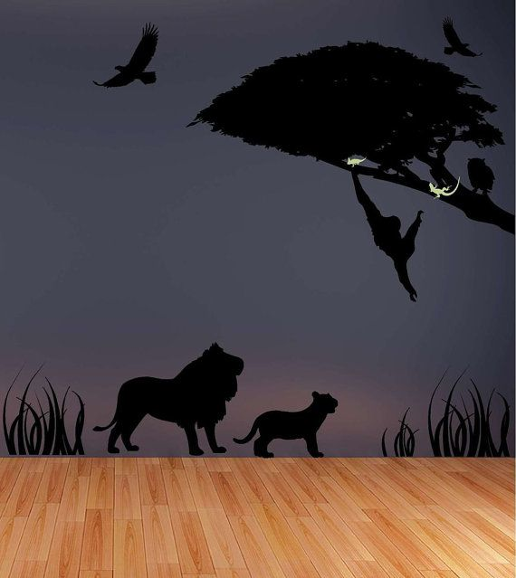 Safari+Silhouette+Vinyl+Wall+Decal+by+Vinyltastic+on+