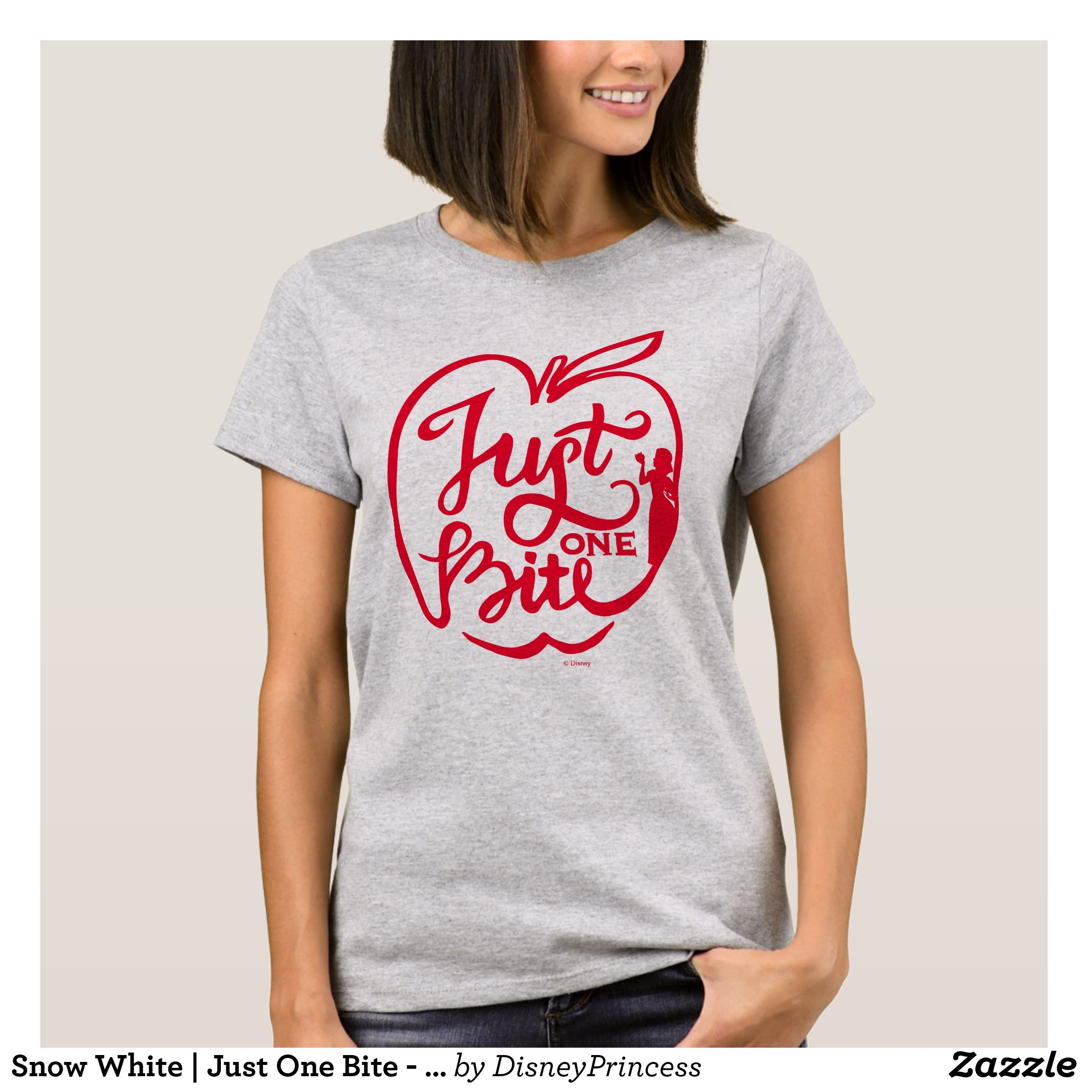 86efa0402 Snow White | Just One Bite - Red T-Shirt - Fashionable Women's Shirts By  Creative Talented Graphic Designers - #shirts #tshirts #fashion #apparel # clothes ...