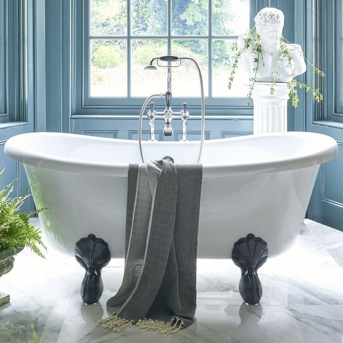Burlington Bateau Freestanding Roll Top Bath | Roll top ...
