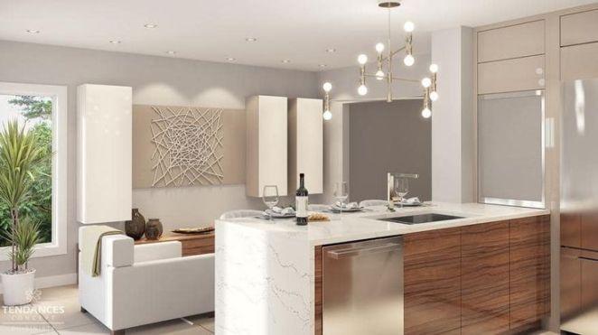 Idée relooking cuisine Modèles de cuisines équipées modernes blanche