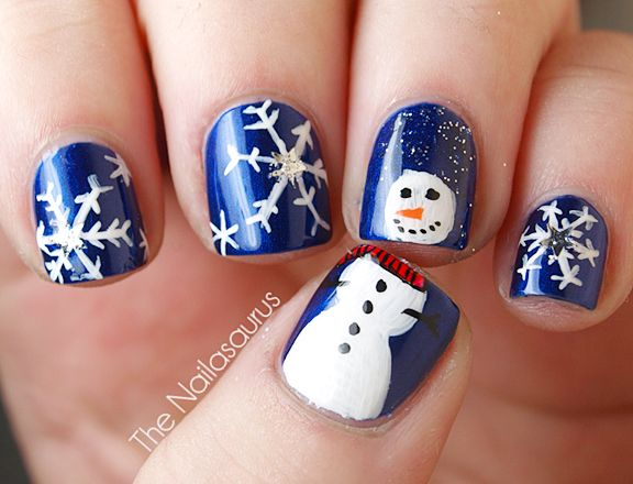 Let it snow on your nails 20 snowflake nail arts see more nail let it snow on your nails 20 snowflake nail arts see more nail designs at prinsesfo Images