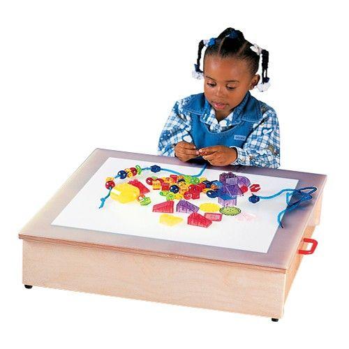 Tabletop Light Box Constructive Playthings Light Table Light Box Cube Light