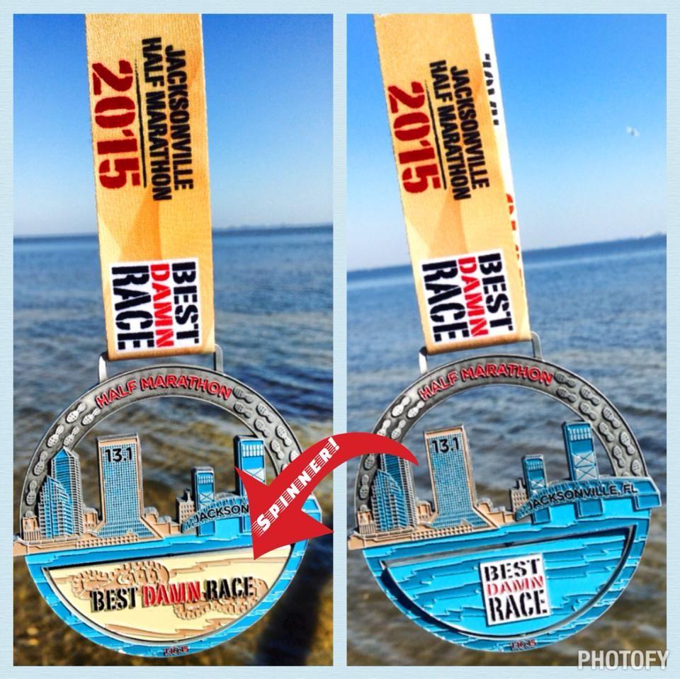 Best Damn Race Jacksonville Half Marathon Medal - The ...