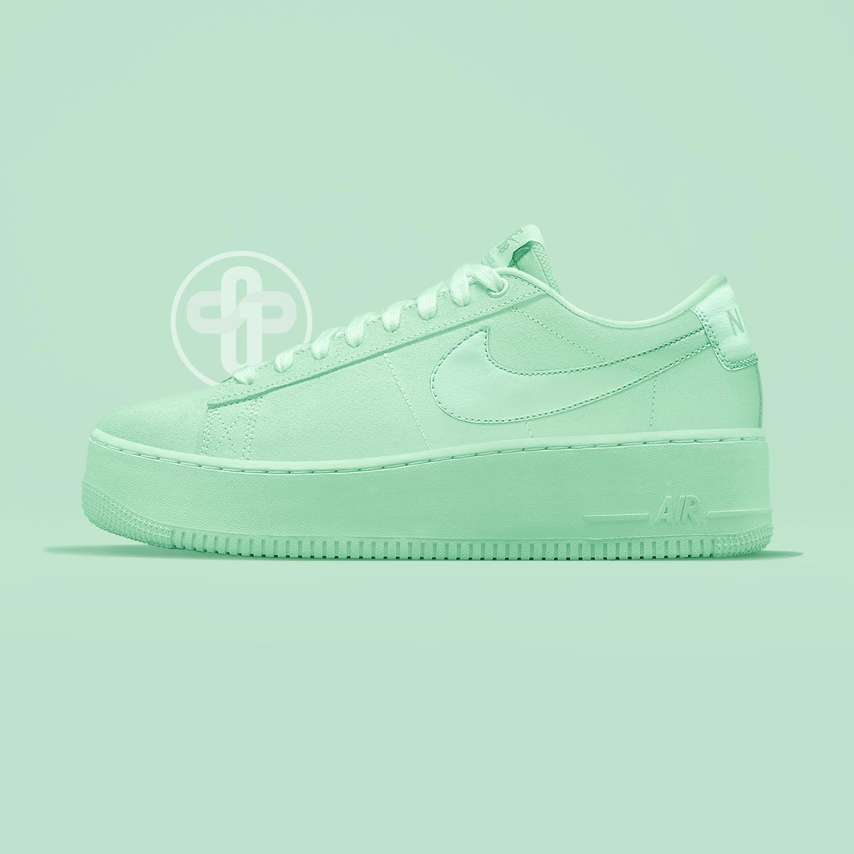 Nike Blazer Creeper Triple Green   Nike blazer, Nike air