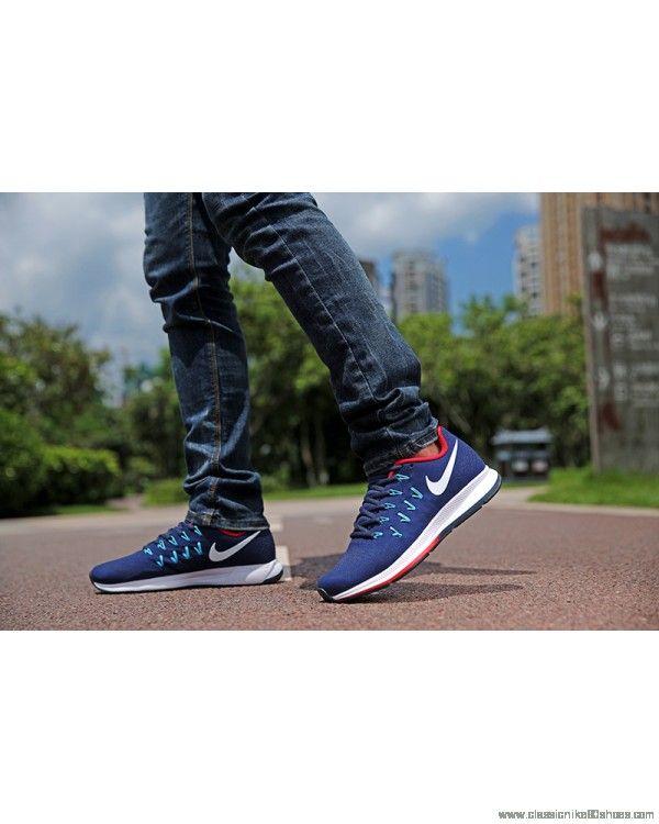 Nike Air Zoom Pegasus 34 Mens Blue White Red Shoe Online Cheap