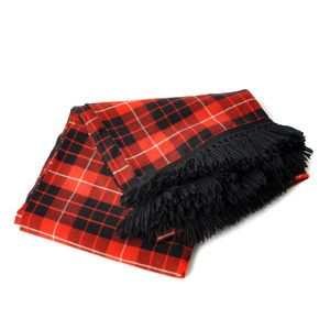 Plaid Wool Blanket Red Black, $45, now featured on Fab.