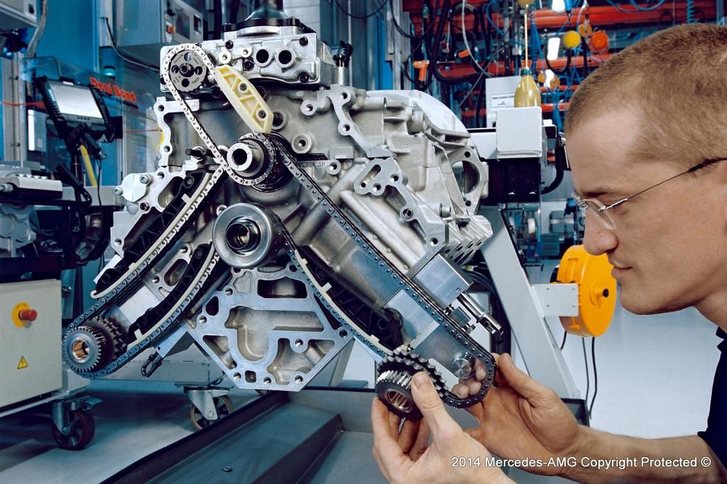 Every Mercedes-AMG engine is assembled by hand, by a single technician - the #AMG Distinction