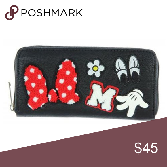 b134c821efe Minnie Mouse Patches Black Zip-Around Wallet Loungefly Minnie Mouse Patches  Black Zip-Around Wallet  Embrace the style of Disney s leading lady