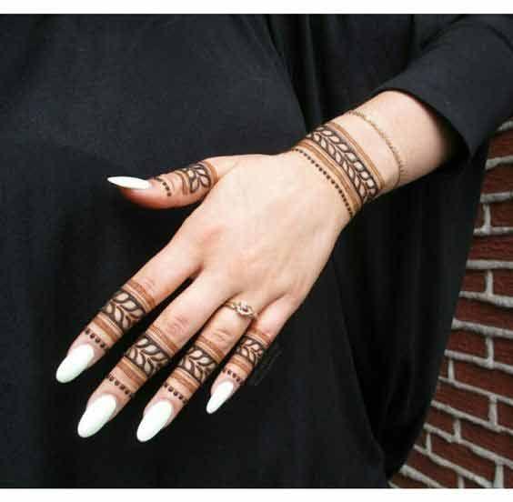 Latest Finger Mehndi Designs 2019 For Hands Tatoo Henna