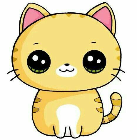 Chat dessin cute kawaii in 2019 pinterest cute - Animal dessin ...